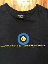 Vintage Polo Jeans Company Ralph Lauren T-Shirt (Men's Size Large) Navy Yellow
