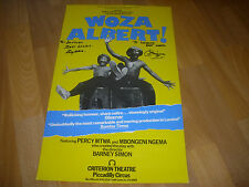 WOZA ALBERT Original Signed Cast Percy MTWA &  M NGEMA Criterian Theatre Poster