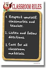 NEW POSTER  - CLASSROOM RULES #3 - School Teachers Students