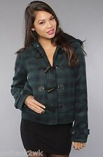 NEW Nixon Ladies M JACKET COAT PEACOAT HOODY TOP SHIRT Stella Blue Green