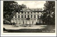 Greiz Thüringen DDR Postkarte ~1950/60 Partie im Park ungelaufen Gebäude Ansicht