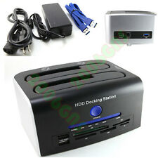 USB 3.0 SATA HDD DOCKING STATION ONE TOUCH BACKUP CLONE