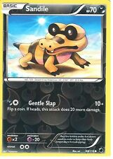 POKEMON BLACK AND WHITE PLASMA FREEZE - SANDILE 68/116 REV HOLO