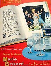 PUBLICITE MARIE BRIZARD ANISETTE LIVRE D'OR APRES LA DANSE DE 1959 FRENCH AD PUB