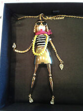 JUICY COUTURE RETIRED GOLD TONE FASHIONISTA PENDANT NECKLACE NIBWT HTF YJRU5415