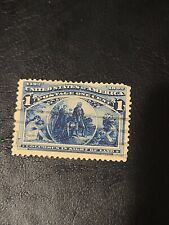 Scott# 230 US Stamp 1893 1c Columbus in Sight of Land Used Great  Shape - # 1631