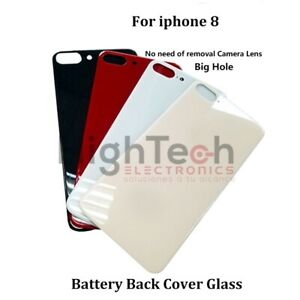 Back Glass Big Cam Hole  For iPhone 8 X XS XR XS MAX 11 12 PRO