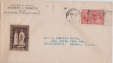 Canada 1937 Coronation Cover & label,Their Majesties with Cloaks, Vallancey #12