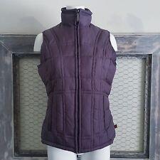 Woolrich Purple Vest Jacket S Small Winter Coat Padded Fleece Lined Womens