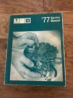 '77 Service Manual Pontiac GM Car Automobile Repair All Components Except Body