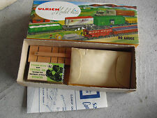 Vintage HO Scale Ulrich Metal Wood ATSF Gondola Car Kit in Box No 106