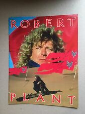 Robert Plant 1988 Now And Zen Tourbook Program Led Zeppelin