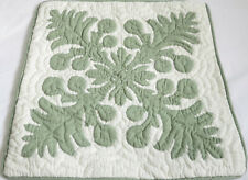 """2 Hawaiian quilt handmade cushions hand quilted/applique throw pillow covers 16"""""""