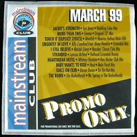"""PROMO ONLY """"MAINSTREAM CLUB MARCH 1999"""" DJ PROMO CD COMPILATION 10 TRACKS *NEW*"""