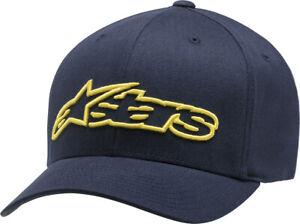 Alpinestars Blaze Flexfit Hat (Navy/Yellow) LG/XL