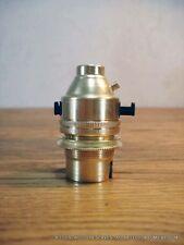 1 douille laiton B22 a interrupteur poussoir double bague lampe gras anglepoise