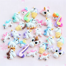 10pcs Mixed unicorn flatback resin cabochon for Diy phone deco scrapbooking PL