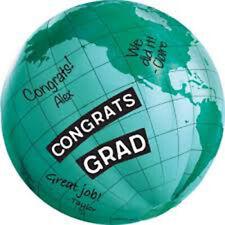 Graduation Inflatable Autograph Globe Vinyl Ball (1)~ Graduation Party Supplies