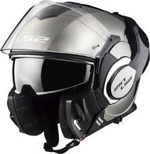 Ls2 casco moto abatible Ff399 Valiant mono Gloss Chrome XL