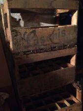Casier à bouteilles bois caisse Casanis vintage déco loft A RENOVER