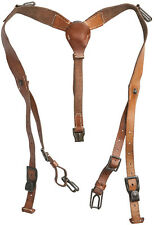 Original Czech Army Y-Strap leather suspenders harness Military Suspenders