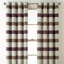 NWT 1 PAIR J.C. PENNY stripe purple  gray stripe  GROMMET TOP PanelS 50 x 84