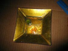 "Square Enamel on Copper Dish 1958 California Cloisonn Landau & Associates 4 7/8"""