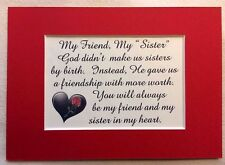 SISTER IN LAW God Gave MY FRIEND Heart STEPSISTER Friendship verses poem plaques