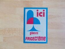 Autocollant vintage de vitrine GLACES FRIGÉCRÈME