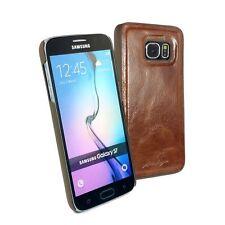 Alston Craig Echtes Leder Ersatz Magnetisch Schale für Galaxy S7 - Braune