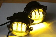 "4"" Inch Amber Yellow Cree Led Fog Lights for Jeep Wrangler JK JKU TJ LJ Dodge"