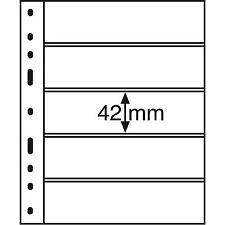 Leuchtturm Münzhüllen OPTIMA 5 S 5er Einteilung 180x42 mm schwarz 10er-Pack