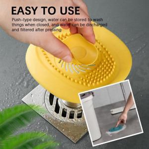 Sink Filter Strainer Drain Stopper Waste Hair Kitchen Bathroom Plug Anticlogging