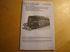 SCHUMACHER AUTOMATIC BATTERY CHARGER OWNERS MANUAL SE MODELS ENGLISH/SPANISH