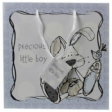 Little Miracles Blue Baby Boy Kid Gift Paper Bag For Party Christmas Loot Treat