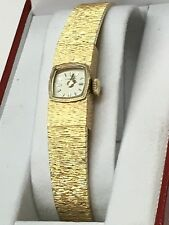 VERY ELEGANT LADIES LONGINES 14KT GOLD WRIST WATCH