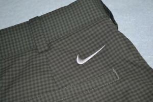 17169-a Nike Golf Pants Size 30 x 30 Green Plaids Polyester Mens