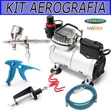 KIT AEROGRAFIA PROFESSIONALE COMPRESSORE AEROGRAFO FENGDA NAIL ART SPRAY HOBBY