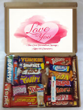 """""""Love U"""" Personalised Present Loved One Chocolate Bars Gift Selection Box Hamper"""