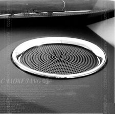 FIT FOR 2014- KIA FORTE K3 CERATO CHROME DASH STEREO SPEAKER COVER TRIM RING