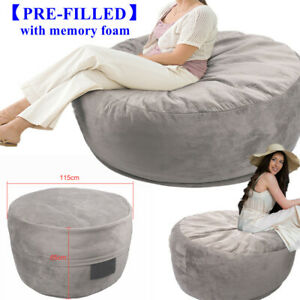 UK Bean Bag Sofa Couch Chair Lounger Futon Adult  Lazy Couch Sofa Garden Indoor