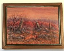 """""""Nevada Scene""""--a miniature painting from 1987 by Frances (Fran) Gunzburg"""