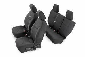 Rough Country F&R Neoprene Seat Covers for 08-10 Jeep Wrangler JKU 4DR  - 91002A