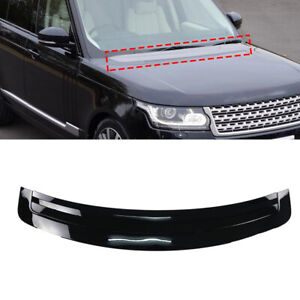Glossy Black Engine Hood Vent Trim Board For Land Rover Range Rover 2013-2017