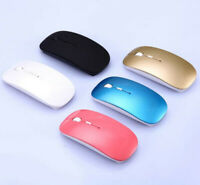 Slim 2.4 GHz Optical Wireless Mouse Mice + USB Receiver for Laptop PC Macbook