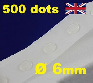 500 Glue Dots Sticky Craft Clear Scrap Removable 6mm EASY LOW TACK GLU DOTS