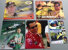 Indy Car  Signed Postcard / Photo Lot Helio Hornish Kanaan Lot Of 5 Different