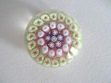 YSART / Vasart Miniature Millefiori Concentric Paperweight Mini Pink Ground
