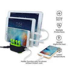 4-Port USB Fast Charger Station Charging Dock Stand Organizer Phone/iPad