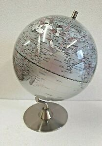 (GRA) Silver Globe on chrome stand